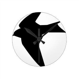 Flying Bird Round Clock