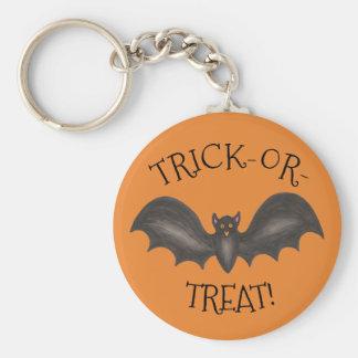 Flying Black Bat Halloween Trick or Treat Gift Key Ring