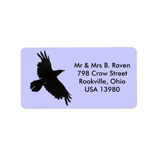 Flying Black Raven Labels