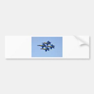 Flying Blue Angel Bumper Stickers