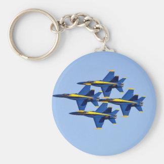 Flying Blue Angel Keychain