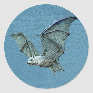 Flying Blue Bat Relief Stickers