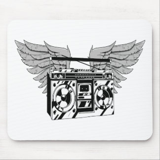 Flying Boom Box Mouse Pad