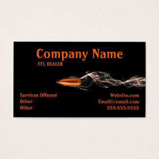 Flying bullet Firearms Business card