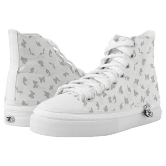 flying butterflies in pastel colors high tops