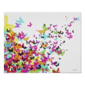 Flying Butterflies Poster