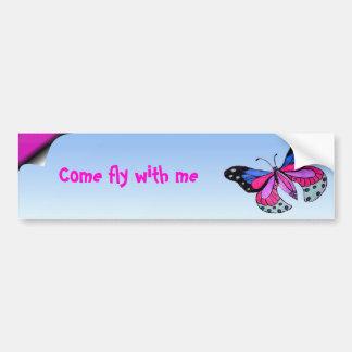 Flying Butterfly Bumper Sticker