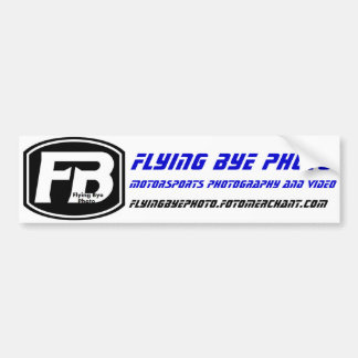 Flying Bye Photo: Bumper / Racing Sticker | Blue Bumper Sticker