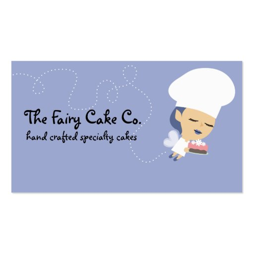 Flying cake fairy chef baking baker business cards