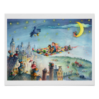 Flying Carpet Childrens poster