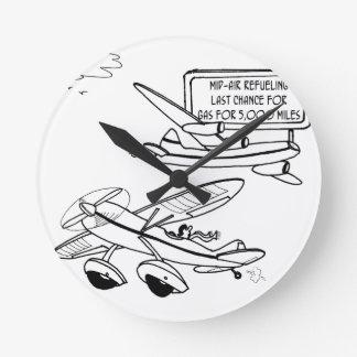 Flying Cartoon 3682 Round Clock
