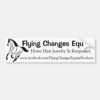 Flying Changes Equine Bumper Sticker