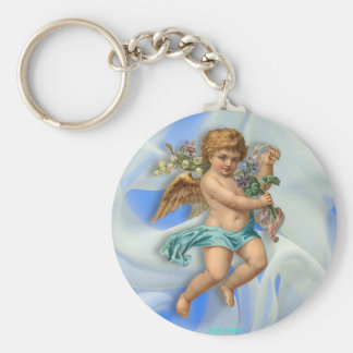 Flying Cherub Key Ring