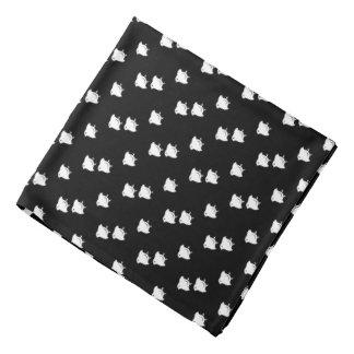 Flying Chidori Japanese Pattern Black Bandana
