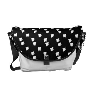 Flying Chidori Japanese Pattern Messenger Bag B