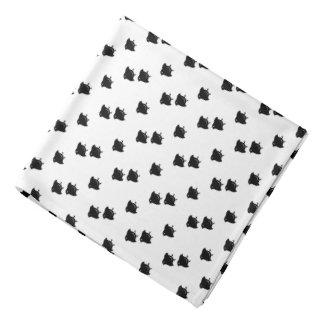 Flying Chidori Japanese Pattern White Bandana