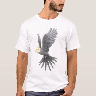 Flying Cockatiel Parrot T-Shirt