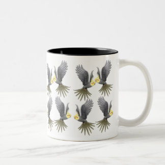 Flying Cockatiels Mug
