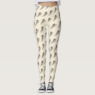 Flying Coffee Latte Drink or Tea Time Leggings