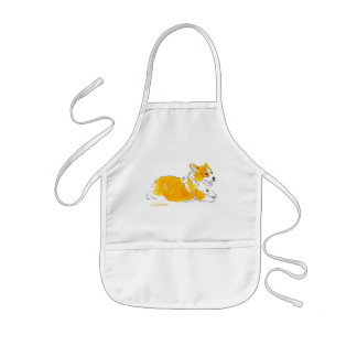 Flying Corgi Apron