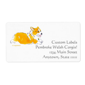Flying Corgi Custom Labels