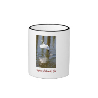 Flying crane 2, Tybee Island, Ga Ringer Coffee Mug