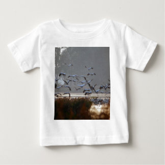 Flying cranes baby T-Shirt