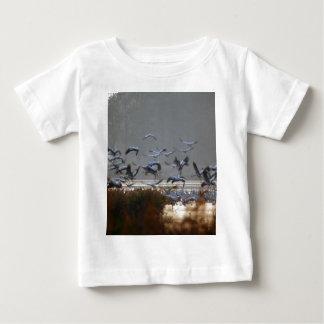 Flying cranes baby T-Shirt