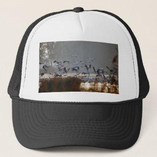 Flying cranes trucker hat
