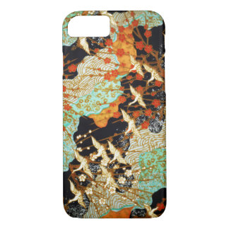 FLYING CRANES WITH SPRING FLOWERS Japanese Floral iPhone 8/7 Case