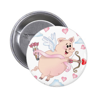 Flying Cupid Piggy Valentine's Day Pin