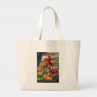 Flying Devils Jack O' Lantern Smoke Jumbo Tote Bag