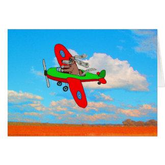 """Flying Dog"" blank card, humour. Card"