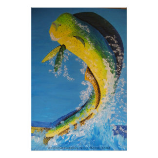 Flying dolphin poster