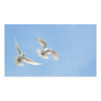 Flying doves business cards