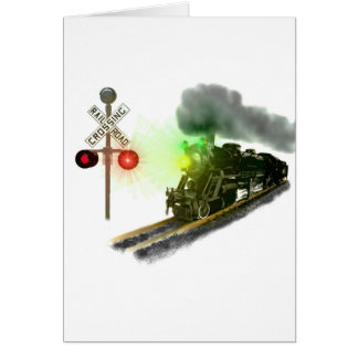 Flying Down The Rails Card