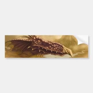 flying dragon fantasy bumper sticker
