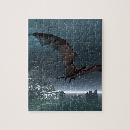 Flying dragon jigsaw puzzle