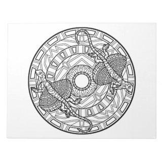 Flying Dragon Mandala Coloring Book Pad