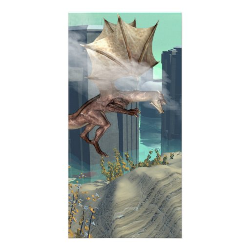 Flying dragon photo card