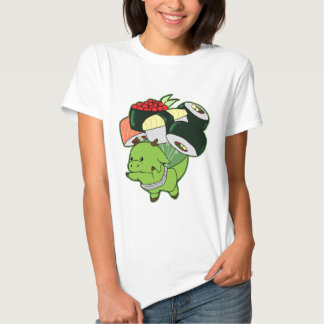 Flying dragon with sushi balloons t-shirt