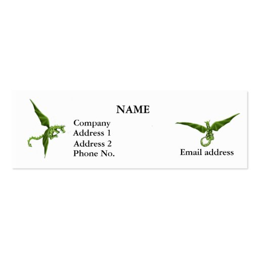 Flying Dragons Profile Card Business Card