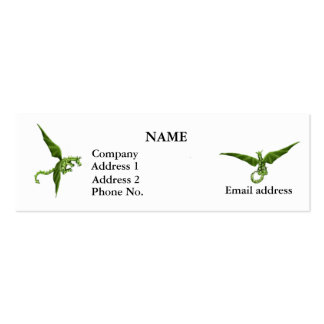 Flying Dragons Profile Card Double-Sided Mini Business Cards (Pack Of 20)