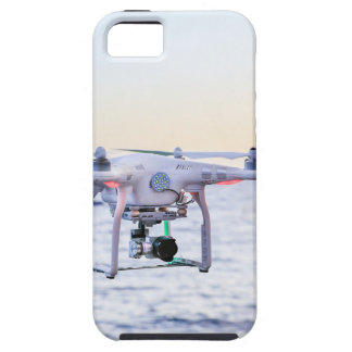 Flying drone at coast above sea iPhone 5 case