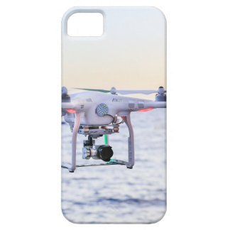 Flying drone at coast above sea iPhone 5 covers