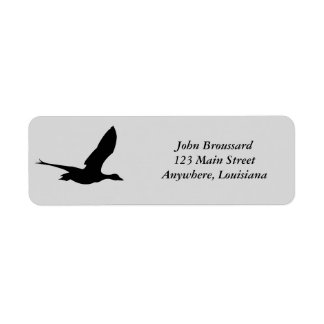 Flying Duck Head Address Label