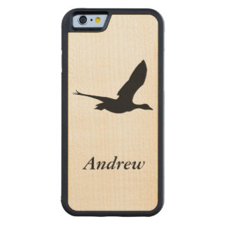 Flying Duck on Wood Styled Cell Phone Case