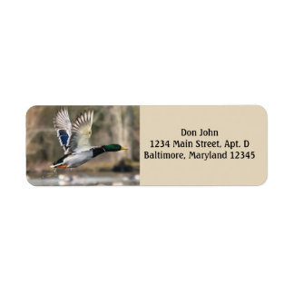 Flying Duck Return Address Labels
