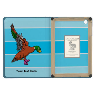 Flying Duck Wearing Spotty Boots Illustration iPad Mini Retina Cases