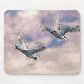 Flying ducks mouse pad